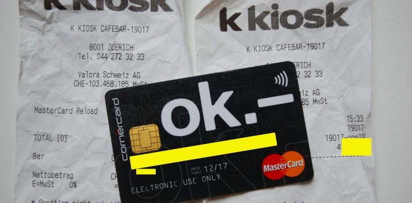 OK Karte: So viel kostet die Valora Debitkarte