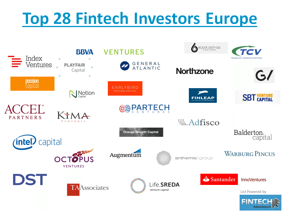 Top Fintech Investors Europe