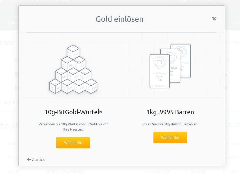 Gold einlösen