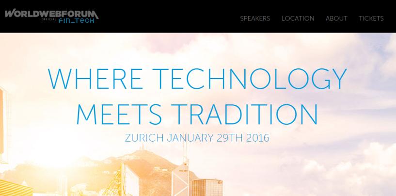 Worldwebforum Fintech Satellite Event in Zurich (Jan 29th) / Exclusive Invitation for Fintechnews Readers