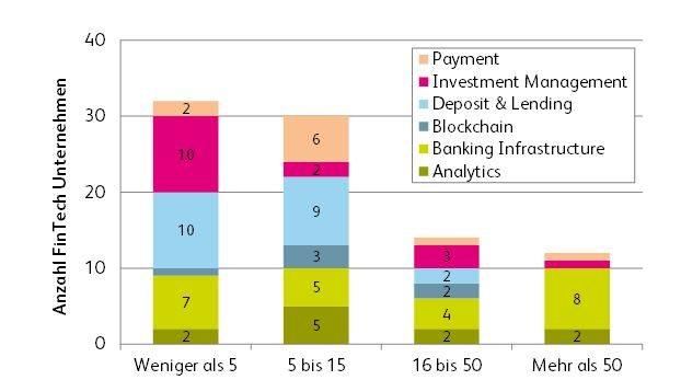 Anzahl Mitarbeiter Fintech Unternehmen Schweiz