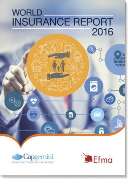 world insurance report 2016 cover capgemini efma insurtech IoT millennials