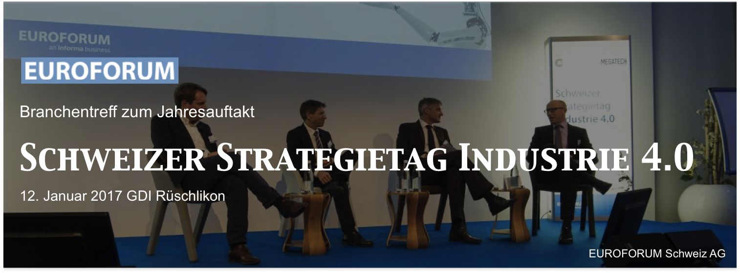 Schweizer Strategietag Industrie 4.0