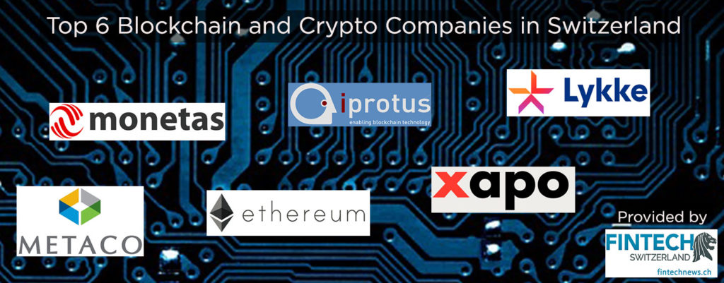 Top 6 Blockchain companies Switzerland