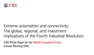 UBS Fourth Industrial Revolution Davos 2016 WEF