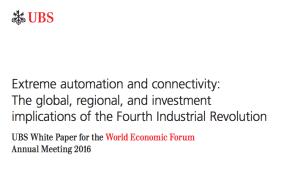 UBS Fourth Industrial Revolution Davos 2016 WEF