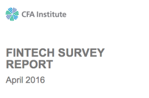 CFA Institute Fintech Report 2016