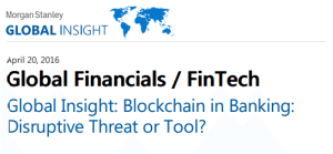 Morgan Stanley Global Insight blockchain tech