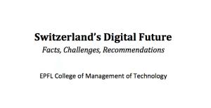 Switzerland Digitalization report Swisscom SIX EPFL