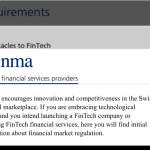 FINMA - FinTech-Regulierung