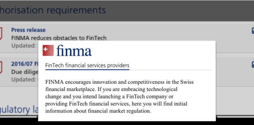 Schweizer FINTECH-Regulierungs Roundtable
