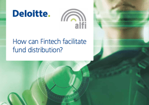 Fintech asset management fund distribution report deloitte ALFI