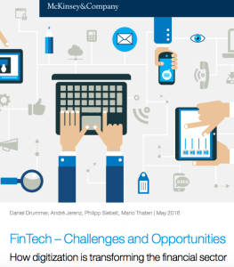 Fintech challenges and opportunities McKinsey report 2016