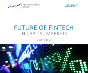 Future of fintech in capital markets deutsche boerse report 2016