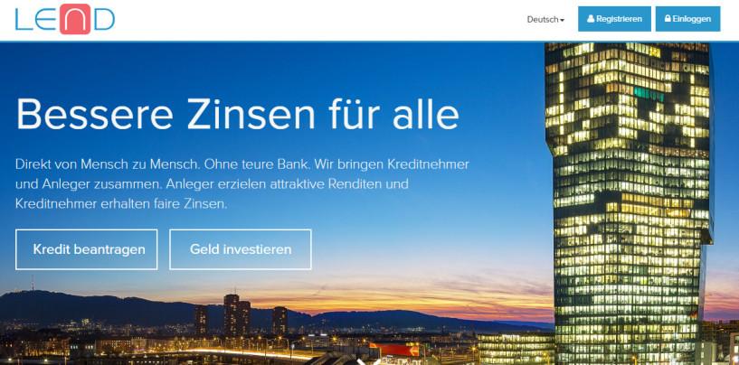 FinTech-Startup Lend.ch hat eine erste Finanzierungsrunde erfolgreich abgeschlossen