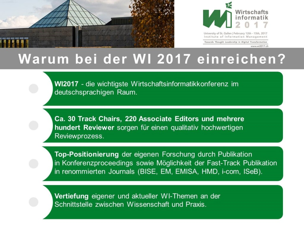International Conference on Wirtschaftsinformatik