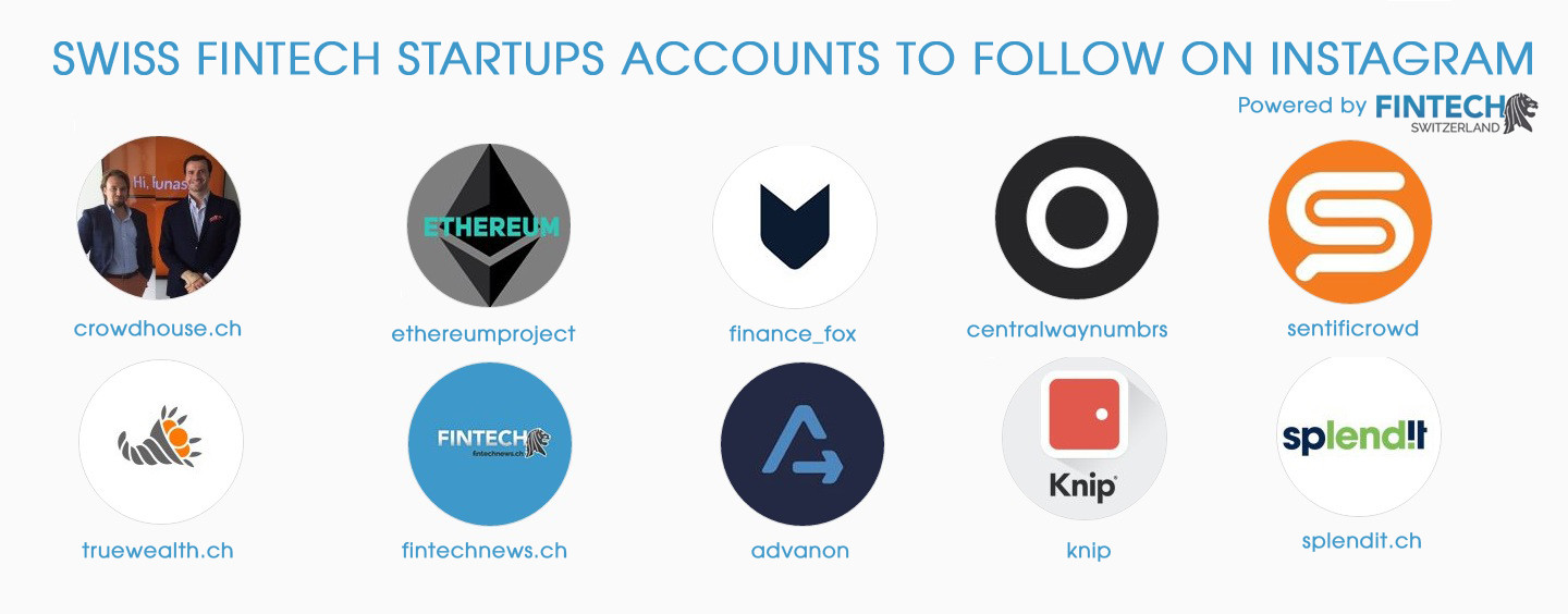 Swiss Fintech Startups Accounts to Follow on Instagram