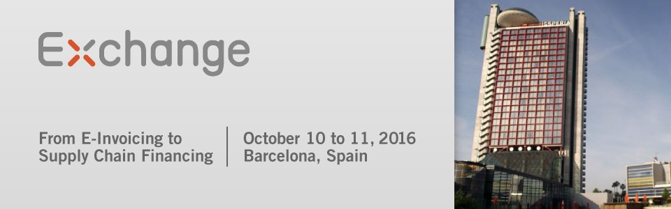 Exchange Summit Barcelona 2016 E-Invoicing