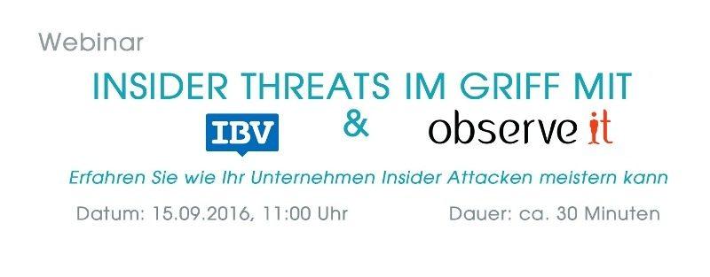 IBV und observeit-