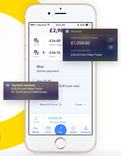 Monese Mobile Bank App Launches in iOS