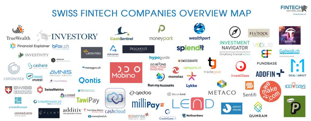 Swiss Fintech Companies Overview Map; 65 Startups Born in Switzerland | Fintech ...