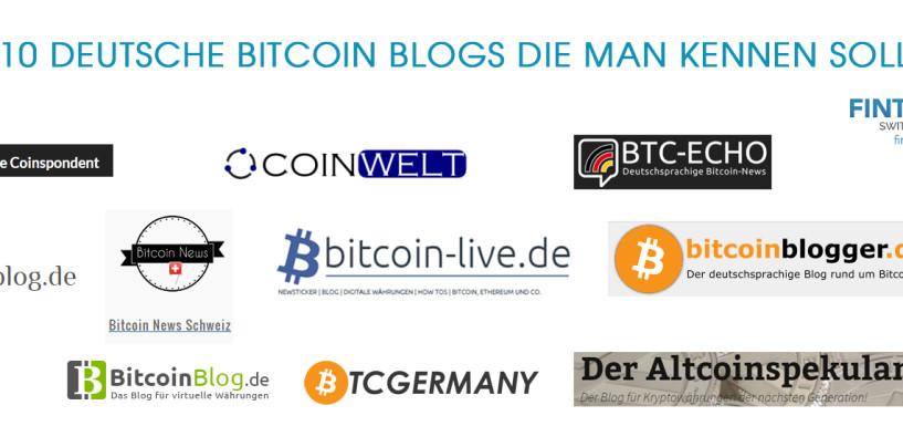 10 Deutsche Bitcoin Blogs die man kennen sollte