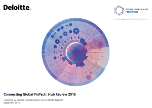 Global Fintech Hubs Report 2016 Deloitte