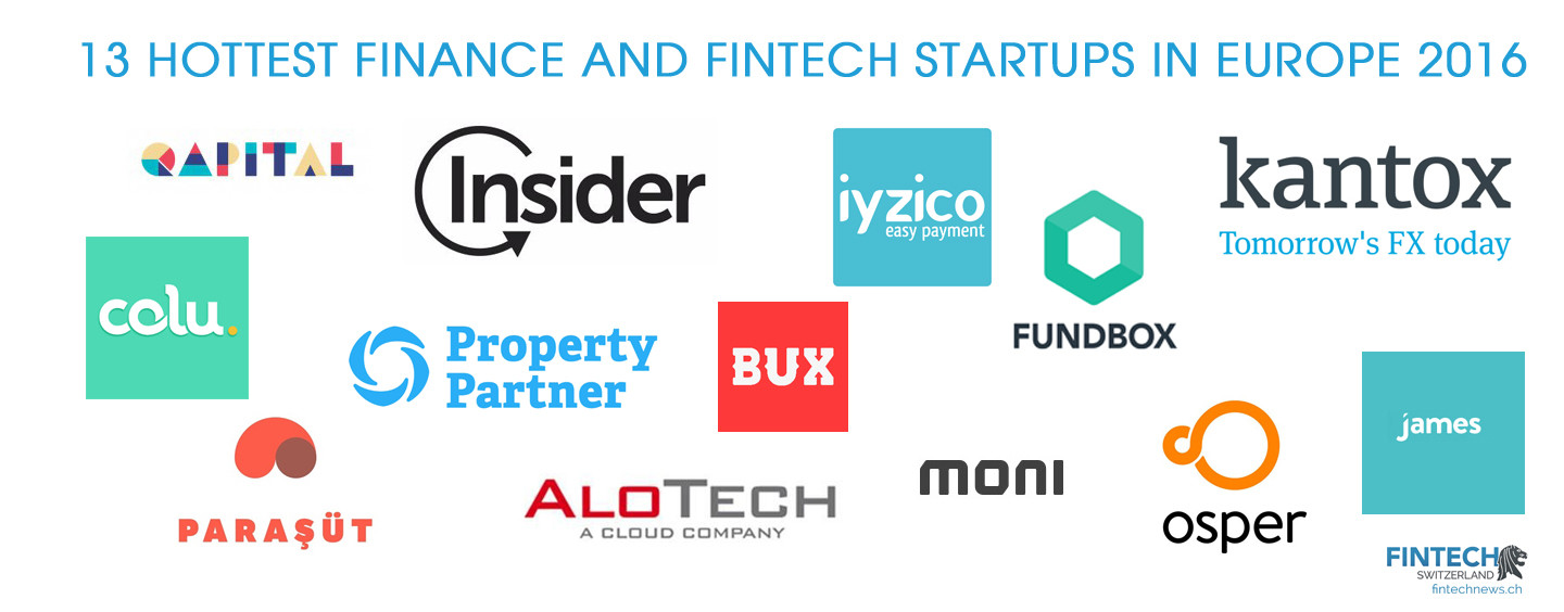 13 Hottest Finance And Fintech Startups in Europe 2016