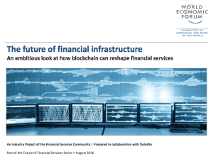 WEF blockchain report, the future of financial infrastructure