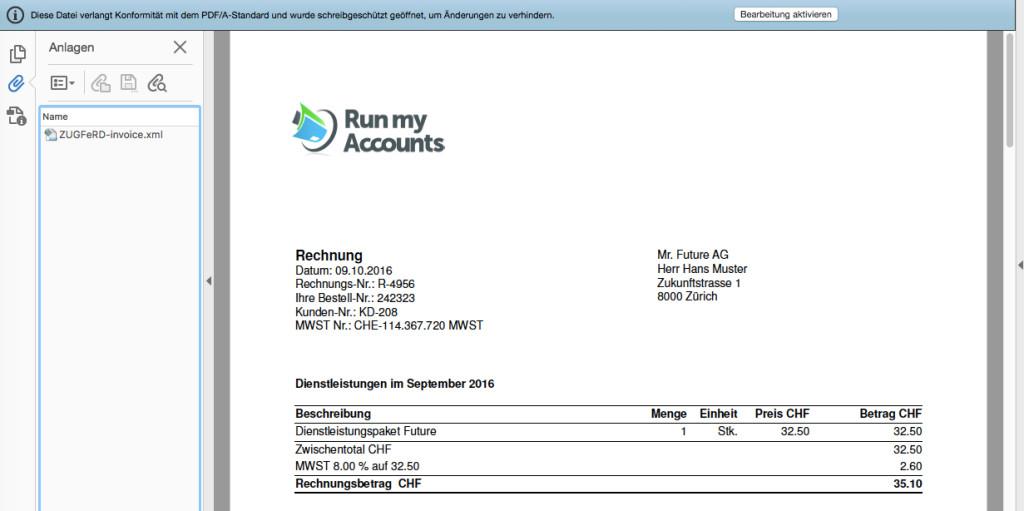 Run my Accounts lanciert E-Rechnung der Zukunft | Fintech Schweiz ...