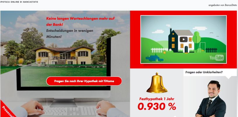Neuer Tessiner Online Hypotheken Anbieter