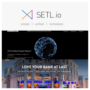 SETL, Deloitte and Metro Bank