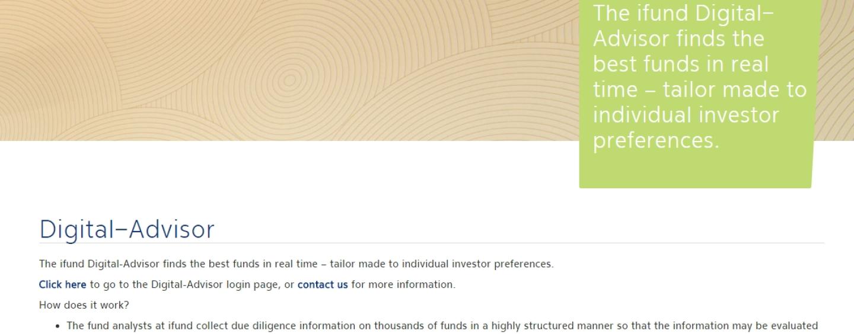 """ifund und fundinfo lancieren den """"Digital-Advisor"""" für die Fondsselektion"""