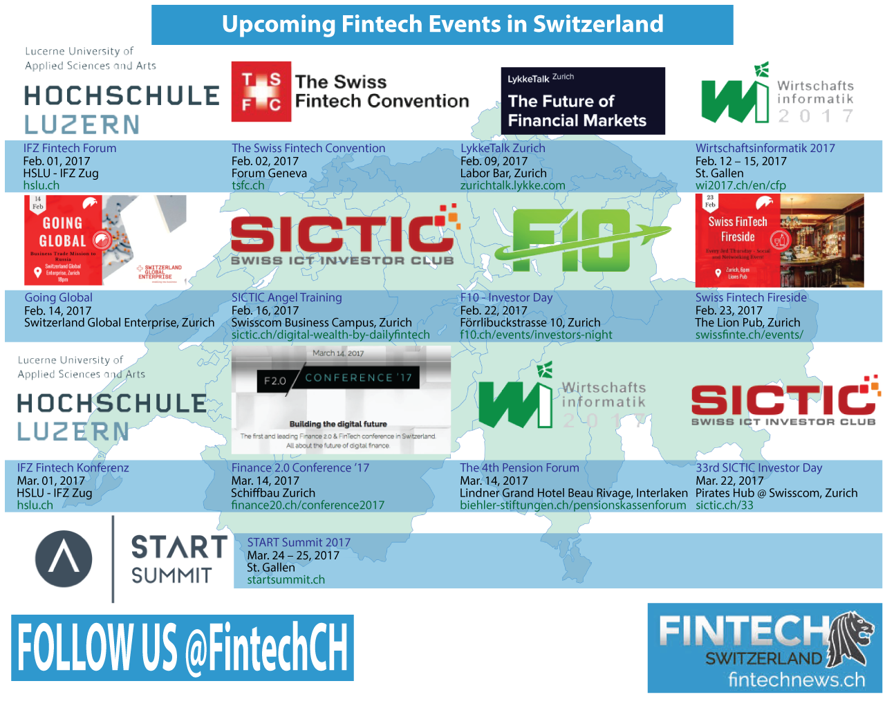 Upcoming Fintech Events Switzerland