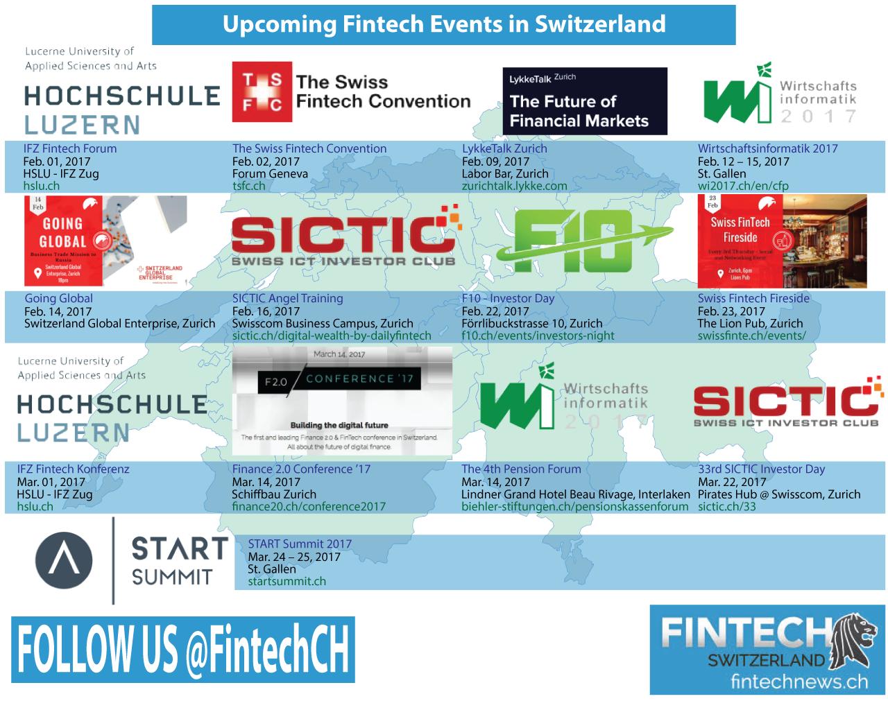 Upcoming Fintech Events Switzerland