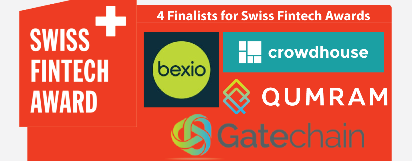 Four Finalists Unveiled for Swiss Fintech Awards 2017