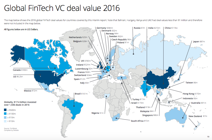 Global Fintech VC deals 2016