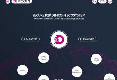DIMCOIN, die Zukunft von Equity auf Blockchain. Stolze Ankündigung des ICOs