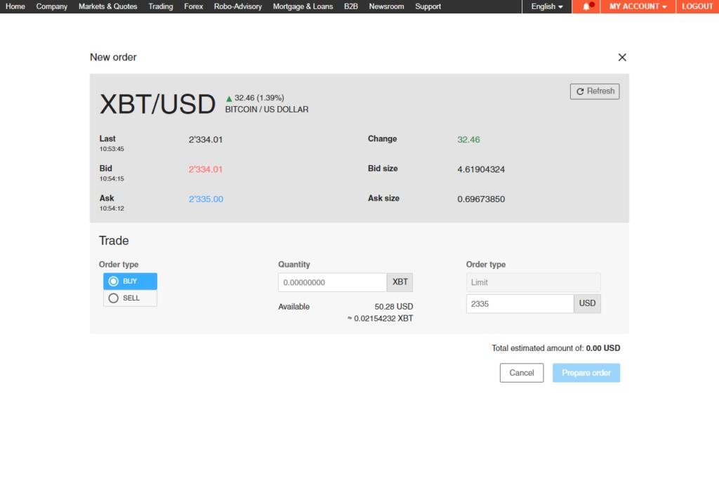 bitcoin handeln schweiz