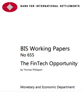 Bank for International Settlement Fintech Opportunity Report