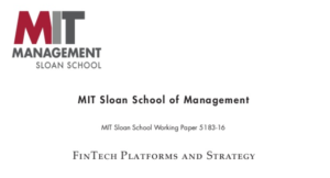 Fintech Platforms and Strategy