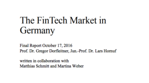 The Fintech Market in Germany