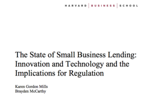The State of Small Business Lending Innovation and Technology and the Implications for Regulation