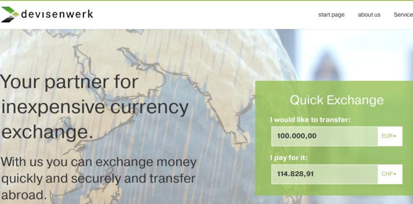 Schweizer Fintech Devisenwerk AG macht den Devisenumtausch für KMU bis zu 90 Prozent günstiger