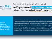 Crowdwiz—A Peek Into The Future Of Financial Services