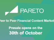Pareto The Peer to Peer Financial Content Marketplace Announces Token Sale