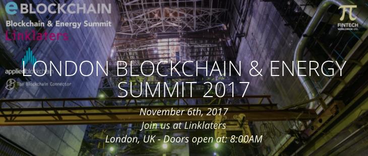 London Blockchain & Energy Summit 2017