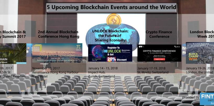 5 Upcoming Blockchain Events around the World