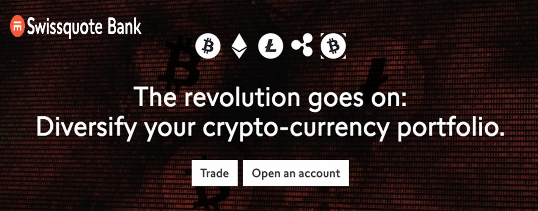 Swissquote bietet Handel mit fünf Kryptowährungen an: neben Bitcoin jetzt auch Bitcoin Cash, Ether, Litecoin und Ripple