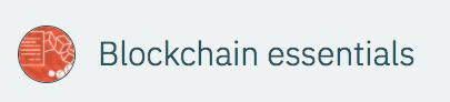Blockchain essentials IBM